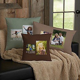 For Him 2-Photo Collage Personalized Throw Pillow Collection