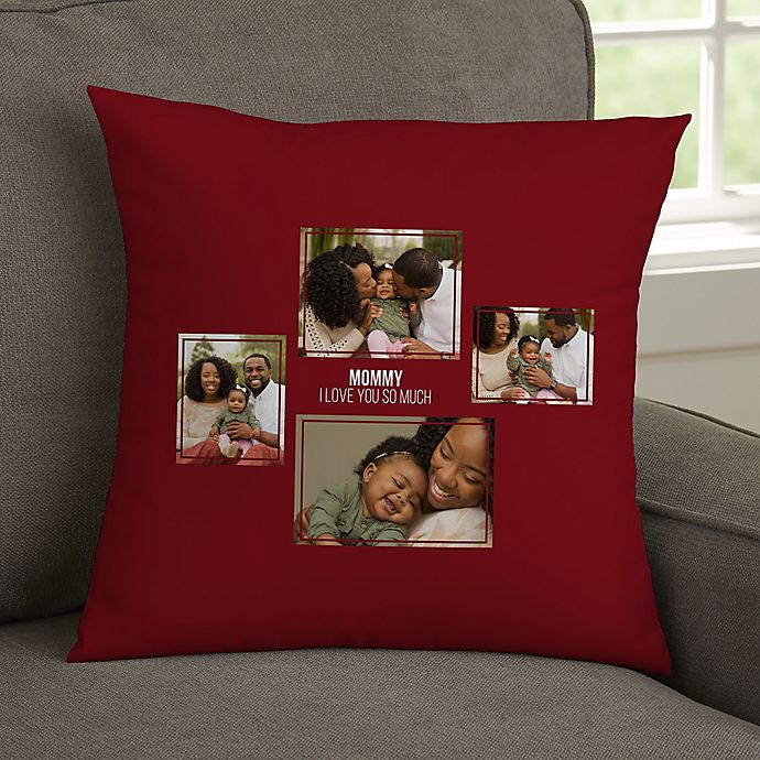 Alternate image 1 for For Her 4-Photo Collage Personalized 14-Inch Square Throw Pillow