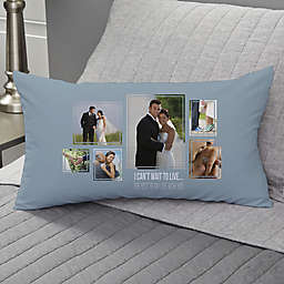 Wedding 6-Photo Collage Personalized Lumbar Throw Pillow