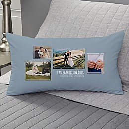 Wedding 4-Photo Collage Personalized Throw Pillow Collection