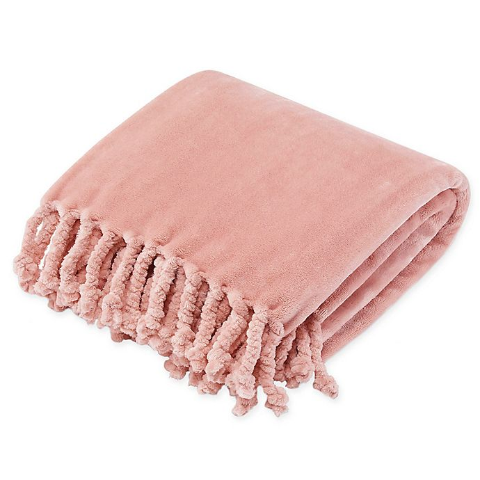 Alternate image 1 for Stone Cottage Hazel Plush Throw Blanket in Purple