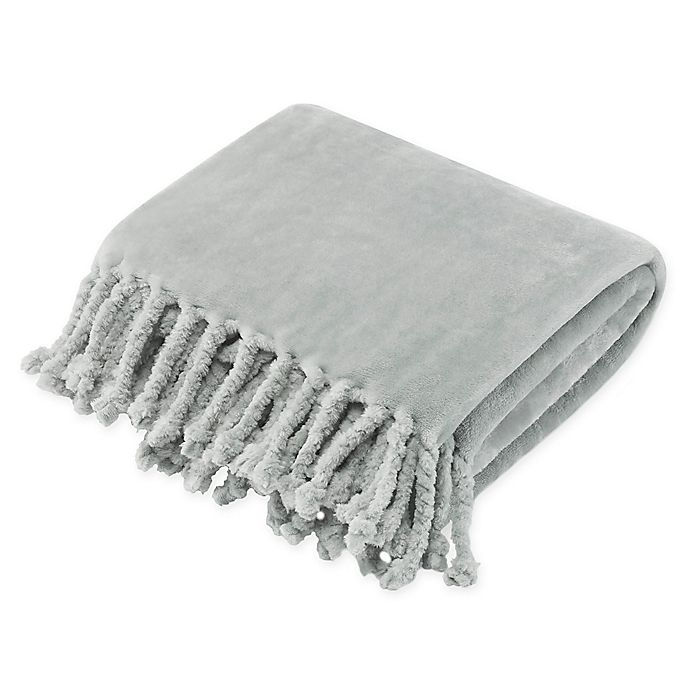 Alternate image 1 for Stone Cottage Hazel Plush Throw Blanket in Grey