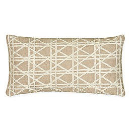 Rizzy Home Caning Oblong Throw Pillow in Natural