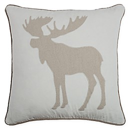 Rizzy Home Moose Square Throw Pillow in Cream