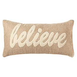 Rizzy Home Believe Oblong Indoor/Outdoor Throw Pillow in Natural/Ivory