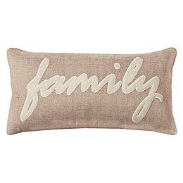 Rizzy Home Family Oblong Throw Pillow in Natural/Ivory
