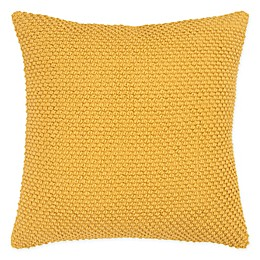 Rizzy Home Nubby Textured Square Throw Pillow in Gold