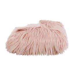 Thro Kari Keller Faux Fur Mongolian Throw Blanket