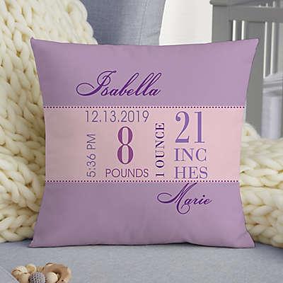 Baby Big Day Personalized Keepsake Pillow
