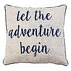 Thro Leon Adventure Square Throw Pillow in Navy