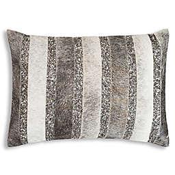 Cloud9 Design Hairon Hide Stripe Oblong Throw Pillow in Brown