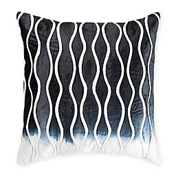 Cloud9 Design Velvet Ombré Square Throw Pillow in Navy