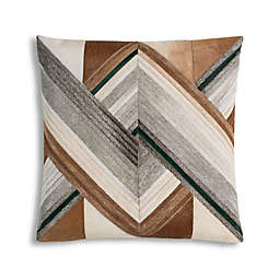Cloud9 Design Modern Hair On Hide Square Throw Pillow in Grey