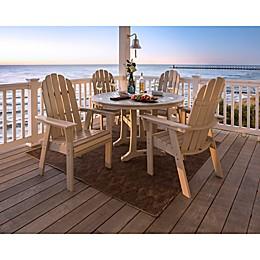 POLYWOOD Vineyard Curveback Adirondack 5-Piece Nautical Trestle Dining Set