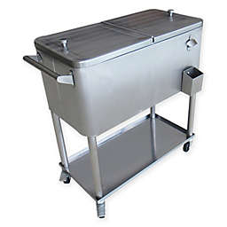 Permasteel 80-Quart Patio Cooler in Metallic
