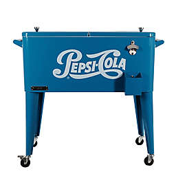 Permasteel Pepsi-Cola 80-Quart Patio Cooler in Blue
