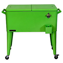 Permasteel 80 Qt. Rolling Patio Cooler Cart