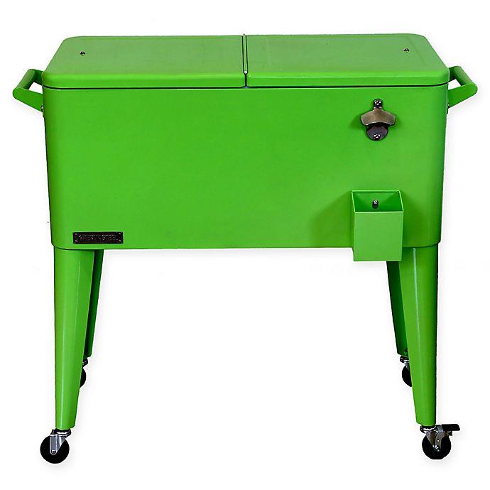 Alternate image 1 for Permasteel 80 Qt. Rolling Patio Cooler Cart