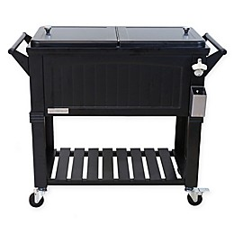 Permasteel 80-Quart Furniture Rolling Cooler