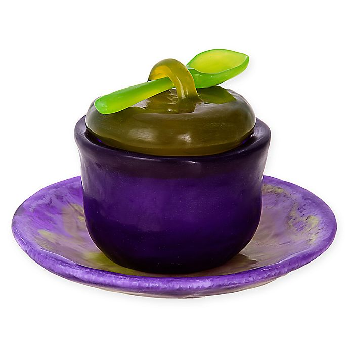 Alternate image 1 for Covered Honey Bowl with Tray and Spoon in Purple/Green
