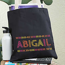 Stencil Name Personalized Tote Bag For Girls