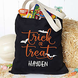 Trick or Treat Personalized Halloween Treat Bag