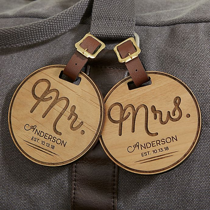 Alternate image 1 for Circle Of Love Personalized Wood Bag Tag