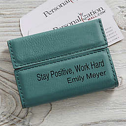Signature Series Personalized Business Card Case