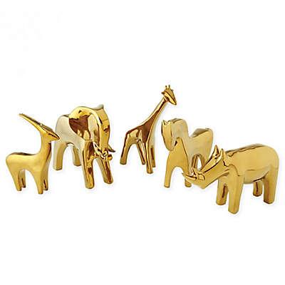 Global Views Ceramic Giraffe Figurine in Matte White