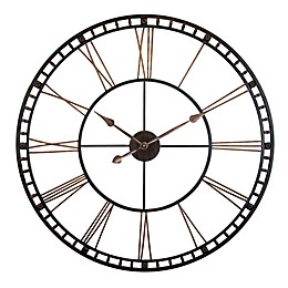 Infinity Instruments The Tower XXL 39-Inch Wall Clock in Black