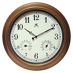 Infinity Instruments 18-Inch Round Wall Clock in Bronze/Ivory
