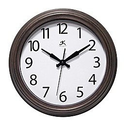 Infinity Instruments Fabrizio 12-Inch Indoor/Outdoor Wall Clock in Brown