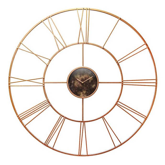 Alternate image 1 for Infinity Instruments Pearle D 45-Inch Round Wall Clock in Rose Gold