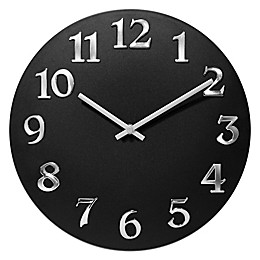 Infinity Instruments Vogue 12-Inch Round Wall Clock in Black