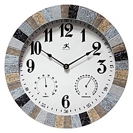 Infinity Instruments Mason 14-Inch Multi-Color Indoor/Outdoor Wall Clock