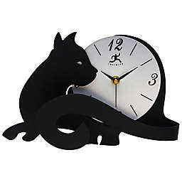Infinity Instruments Cat Tail Tabletop Clock in Black