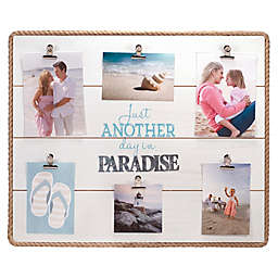 Maiden Paradise Rope-Lined 6-Clip Photo Frame in White
