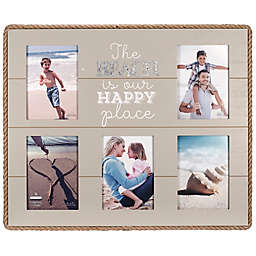 Maiden Beach Happy Rope-Lined 5-Clip Photo Frame in Turquoise