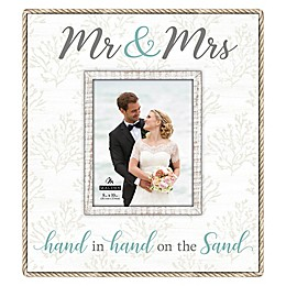 Maiden Mr.& Mrs. Rope-Lined Photo Collage in White
