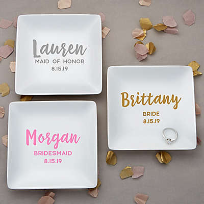 Bridal Party Personalized Ring Dish