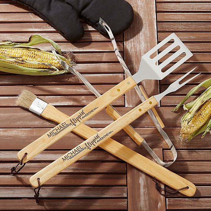 Alternate image 1 for You're Flippin' Awesome Personalized BBQ Utensil Set