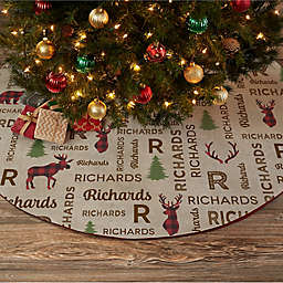 Cozy Cabin Personalized Christmas Tree Skirt