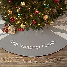 Frosty Neutrals Personalized Christmas Tree Skirt