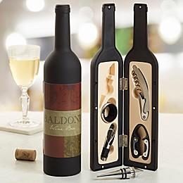 Fleurish Wine Bottle Personalized Wine Accessory 5pc Kit