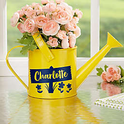 Happy Day Personalized Watering Can Flower Pot