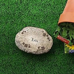 Irish Clover Small Personalized Garden Stone