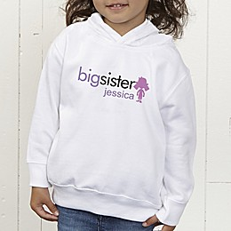 Big/Baby Brother & Sister Personalized Toddler Hooded Sweatshirt