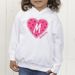 She's All Heart Colored Personalized Toddler Hooded Sweatshirt