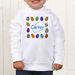 Colorful Eggs Personalized Toddler Hooded Sweatshirt