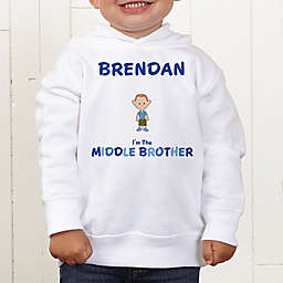 Brother Character Personalized Toddler Hooded Sweatshirt